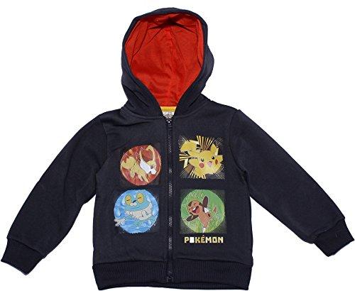 Pokemon Childrens Squares Hodded Jumper Dark Grey 4 - T-shirt Square 4