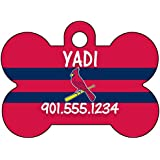 MLB Team Dog Tag Pet Id Tag Personalized w/ Name & Number (St Louis Cardinals)