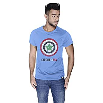 Creo Captain Syria T-Shirt For Men - L, Blue