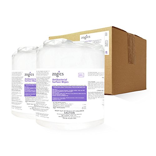 (Zogics Antibacterial Wipes, EPA Registered Surface and Gym Equipment Disinfecting Wipes (2 Rolls, 1600 Wipes))
