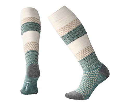 Smartwool Women's Popcorn Cable Knee Highs Mediterranean Green Heather - Knee Warmers Smartwool