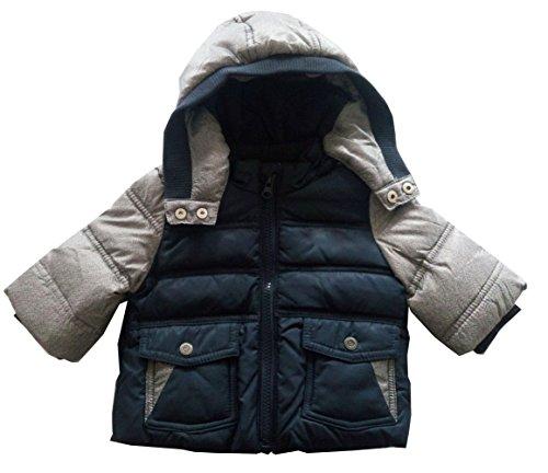 Newborn Infant Boys Down Jacket Hooded Winter Warn Coats Outerwear by Fashion Baby