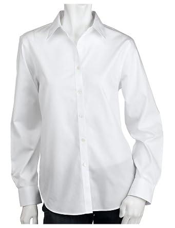 e97e80a14 Jones New York Women's Signature Solid Easy Care Shirt, White at ...