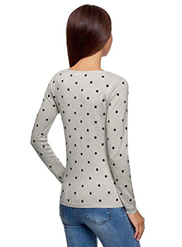 Ultra Femme Rond Pull oodji Gris Col 2029d Droit 4dqFWwP
