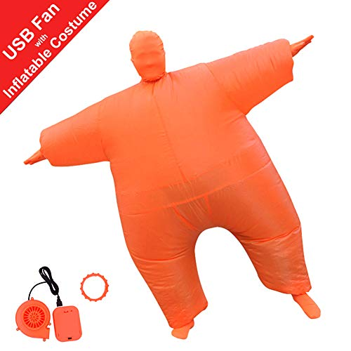 HUAYUARTS Inflatable Full Body Suit Christmas Costume Adult Funny Cosplay Cloth Party Toy for Halloween, Free Size, Orange ()