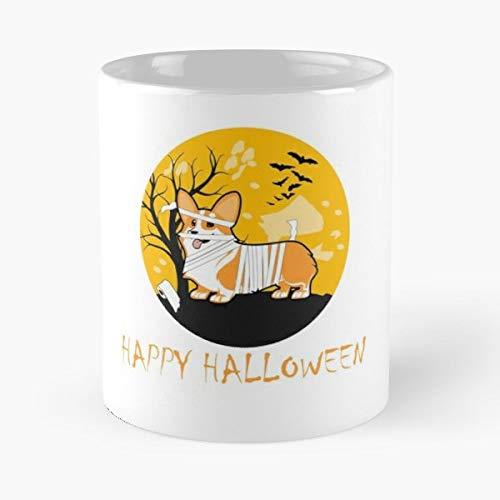 Corgi Mummy Apparels Gift Halloween Happy Coffee Mugs Funny Gift 11 Oz