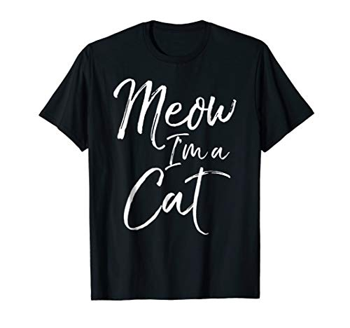 (Meow I'm a Cat Shirt Funny Halloween Costume T-Shirt)