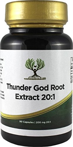 Thunder God Vine Root 20:1 Capsules 200mg 90 Count by ThunderGodRoot.com