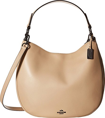 Ladies Purse Leather Beige Hobo Nomad 36026 Coach YwvSXx