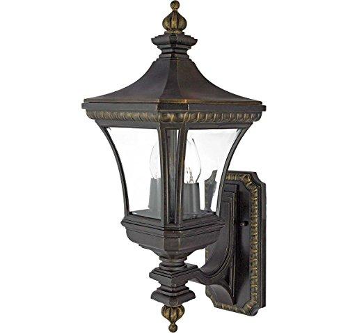 Devon 2 Light - Quoizel DE8959IB Devon 2-Light Outdoor Lantern, Imperial Bronze