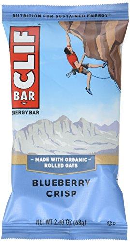 CLIF BAR - Energy Bar - Blueberry Crisp - (2.4-Ounce Protein Bar, 12 Count)
