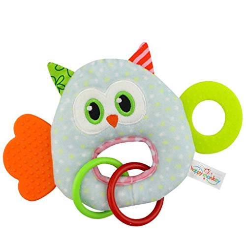 Willsa Toy Colorful Baby Bed Cot Pushchair Hanging Toys with Bell Baby Plush Toy ()