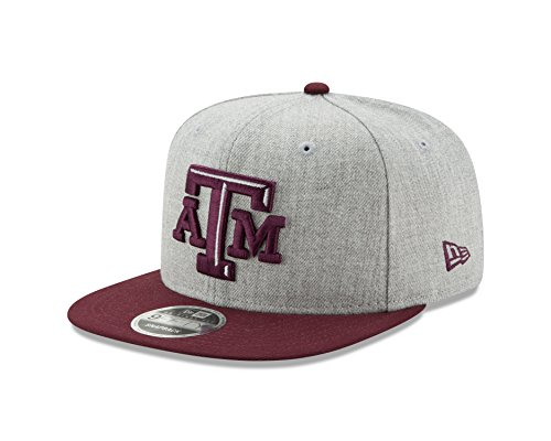 Ncaa New Era - New Era NCAA Texas A&M Aggies Heather Action 9Fifty Original Fit Snapback Cap, One Size, Gray