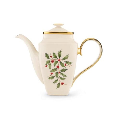 Lenox Holiday Coffeepot, Square - China Coffee Pot