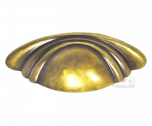 Cabinet Bin Cup Pull Handle Classic Antique Brass Dark 2 1/2