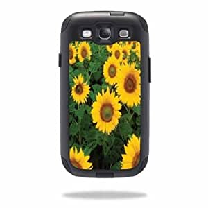 Quaroth - Protective Vinyl Skin Decal Cover for OtterBox Commuter Samsung Galaxy S III S3 Case Sticker Skins Sunflowers