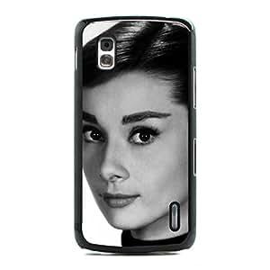 Fraternity Of Audrey Hepburn Cover Case Snap On Google Nexus 4 ,Hard Plastic Case