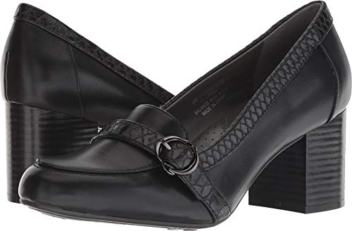 Loafer Shoe Pump - Aerosoles A2 Women's Domain Black Combo 8 B US