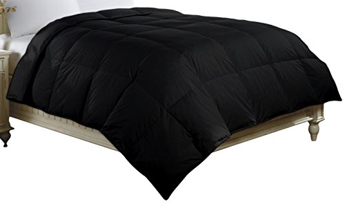 Luxlen Cotton Comforter, Full, Queen, Black