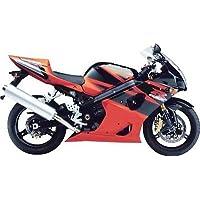 Black w/Orange Fairing Bodywork Injection for 2003-2004 Suzuki GSXR GSX-R 1000