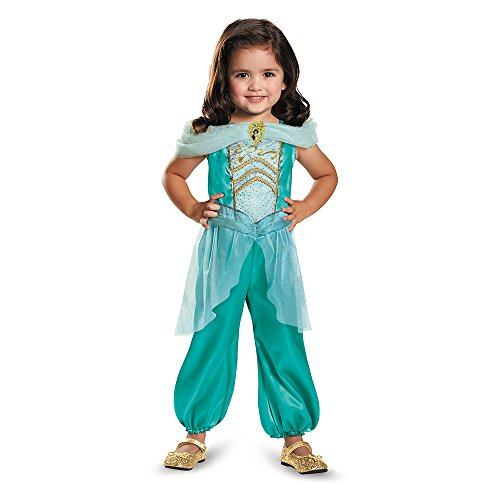 [Disguise 82893L Jasmine Toddler Classic Costume, Large (4-6x)] (Jasmine And Aladdin Costumes)
