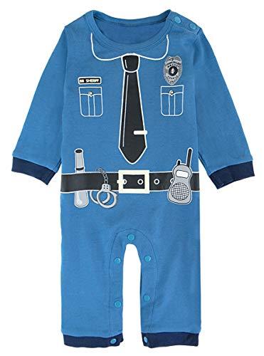 COSLAND Baby Boys' Halloween Costume Police Romper Long Sleeve (Police, 12-18 Months)]()