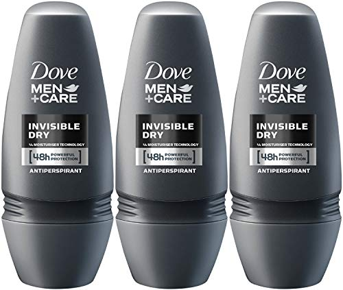 Dove Men+Care Invisible Dry Roll-On Anti-Perspirant Deodorant 50 ml (Pack of 3) by Dove Men + Care