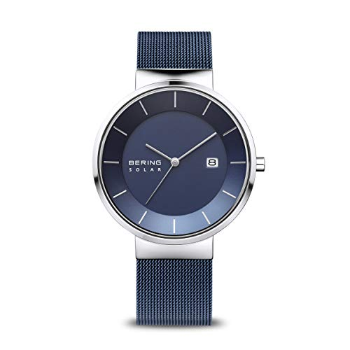 BERING Mens Analogue Solar Powered Watch with Stainless Steel Strap