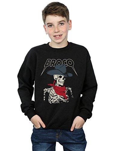 - Don Broco Boys Cowboy Skeleton Sweatshirt Black 12-13 years