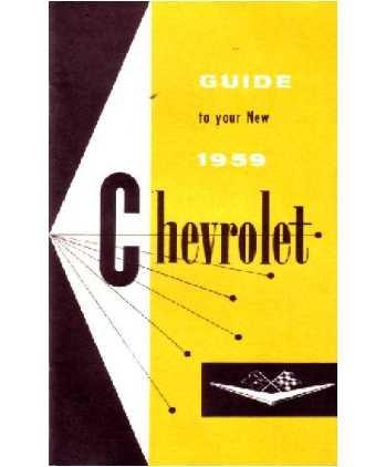 1959 CHEVROLET Full Line Owners Manual User ()