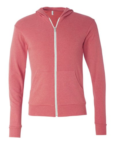 picture of Unisex Triblend Lightweight Hoodie (Light Red TriBlend) (Medium)