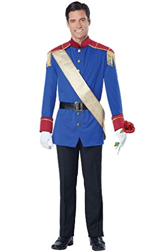 [8eighteen Storybook Charming Prince Fairytale Adult Men Costume] (Storybook Prince Adult Mens Costumes)