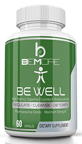 beWell Advanced Digestive Enzyme Formula   From beMore Nutrition for Complete Digestive Health that Enhances Nutrient Breakdown + Absorption to Relieve Bloating Gas IBS & Constipation Symptoms