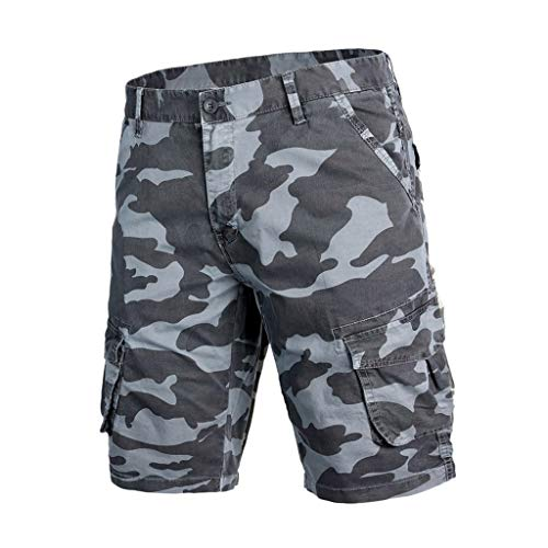 Mens Camo Cargo Shorts Relaxed Fit Multi-Poshortset Outdoor Camouflage Cargo Shorts Cotton