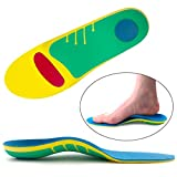 Ailaka Orthotic Cushioning Arch Support Insoles, Full Length Shoe Inserts for Flat Foot