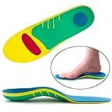 Ailaka Orthotic Cushioning Arch Support Insoles, Unisex Full Length Shoe Inserts for Flat