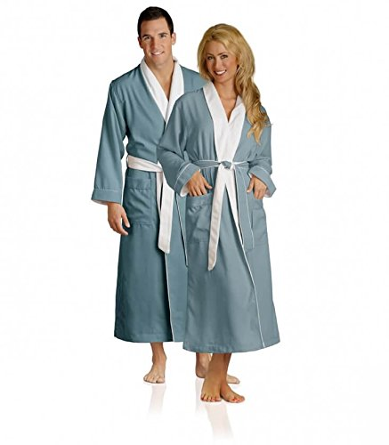 6d305c5138 Plush Necessities Luxury Spa Robe - Microfiber with Cotton Terry Lining   Amazon.co.uk  Clothing