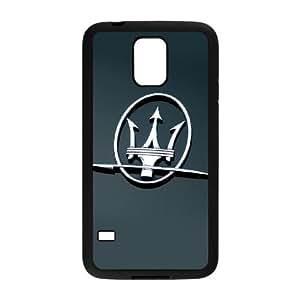 C8R37 logo Maserati funda caso O5N8WW funda Samsung Galaxy S5 teléfono celular cubren WW1CRB4BO negro