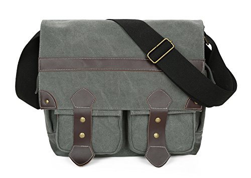 Price comparison product image 14 Inch Messenger Bag for Laptop Book Bag Satchel