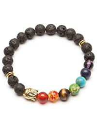 ILOVEDIY Retro Women and Men 7 Stone Chakra Prayer Bead Bracelet 6 Style Fashionable