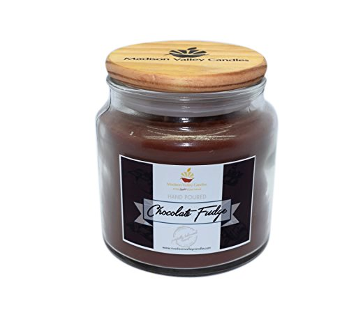 (Strong Scented Chocolate Fudge Soy Candle 16oz By Madison Valley Soy Candle Company)