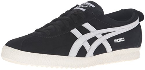 Onitsuka Tiger Men's Mexico Delegation Fashion Sneaker, Black/White, 11 M
