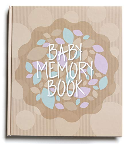 (Baby Memory Book for First Year - Milestone Book for Boy & Girl | Use as a Scrapbook Album or Journal to Record Moments Since Pregnancy | Perfect Baby Shower Gift)
