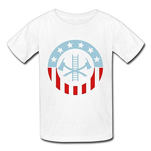 Patriotic Firefighter T-Shirts For Infantile BoysGirs'