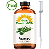 100% Pure Rosemary Essential Oil (4 oz) for Therapeutic Aromatherapy Stimulating Scalp Treatment for Healthy Hair Growth Anti Aging Antioxidant Ancient Beauty Elixir Natural Skin Care for Acne