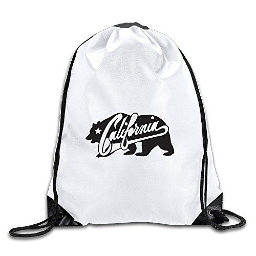 (California Republic Drawstring Backpack Bag Gym Sack)