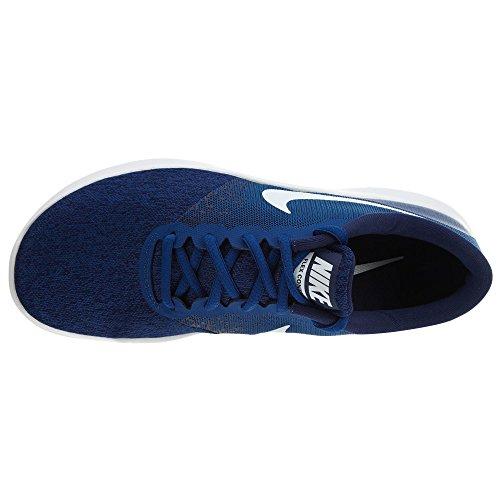 Nike Herren Flex Contact Laufschuhe, Schwarz, UK Gym Blue/White-binary Blue