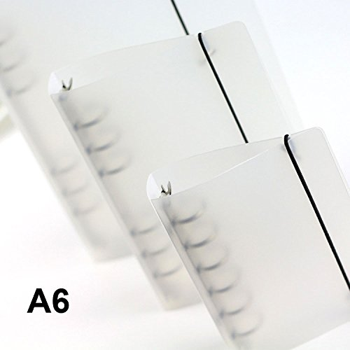 DadaCrafts(TM) Mini Clear Plastic Durable 1-Inch A6 Round 6-Rings Binder for DIY Scrapbooking
