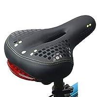 Bridge2shopping Bicycle Saddle Seat with 5 LED Light - 10 Inch'