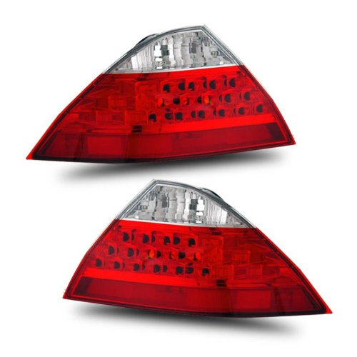 SPPC 4 Door Taillights Red/Clear (No Led Kit) For Honda Accord - (Honda Accord Red 4 Door)